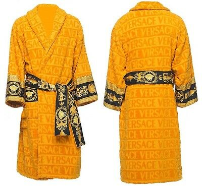 Versace Baroque Medusa Bathrobe - Gold - Size L