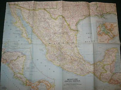 1961 Mexico And Central America National Geographic Map