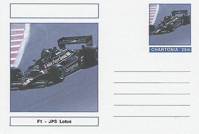 CINDERELLA - 3962 - CARS - F1 JPS LOTUS on Fantasy Postal Stationery card