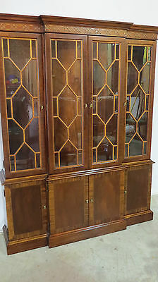 Hickory Mahogany China Cabinet Breakfront Mahogany Beautiful