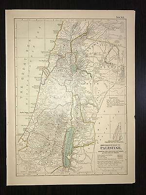 Antique Map of Palestine #XI & #XII Ancient Greece w Asia minor Italy and Egypt