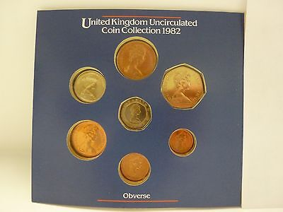 1982 United Kingdom Uncirculated 7 Coin Set - Royal Mint package #2