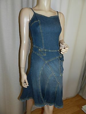571♥PROMOD♥  ROBE JEANS A  BRETELLES  Taille 36