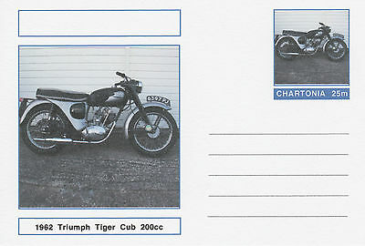CINDERELLA - 3979 - MOTORBIKES - TIGER CUB on Fantasy Postal Stationery card