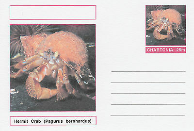 CINDERELLA - 3981 - MARINE LIFE - HERMIT CRAB  on Fantasy Postal Stationery card