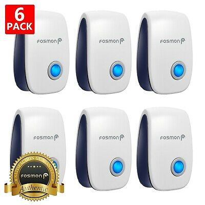 6 Ultrasonic Electronic Pest Repeller Reject Mosquito Rodent Insect Bed Bug Mice