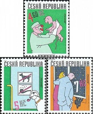 czech republic 231-233 (complete.issue.) unmounted mint / never hinged 1999 humo