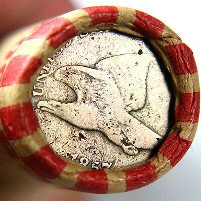 Flying Eagle & Lincoln Wheat Penny on Ends of a Wheat Cent Roll $19