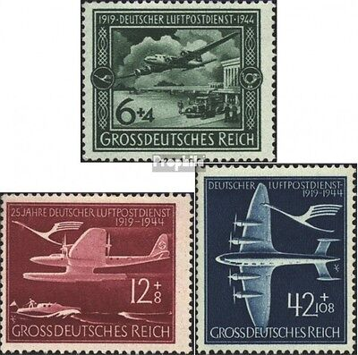 German Empire 866-868 (complete issue) unmounted mint / never hinged 1944 airmai