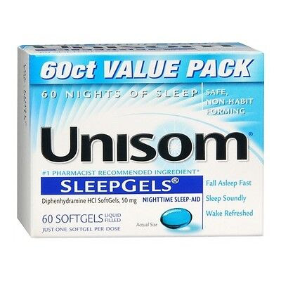 Unisom SleepGels Liquid Filled SoftGels 60 ea
