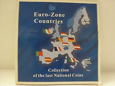 Euro Zone Countries Collection of the last National Coins (12 Coins)
