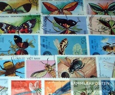 Thematics 150 different Insects stamps