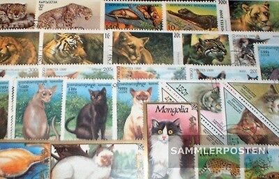 50 stamps Cats-Collection Cats 50