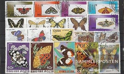 Thematics 50 different Butterflies stamps