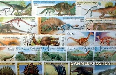 Thematics 50 different Dinosaur stamps