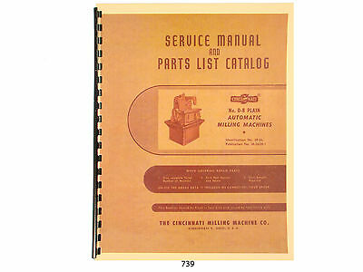 Cincinnati No 0-8 Model OL Milling Machine Service & Parts List Manual *739