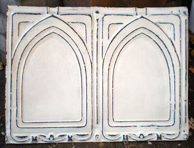 SALE Antique Victorian Gothic Arched Ceiling Tin Tiles Shabby Chic Canvas