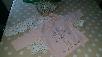 2 New Baby tops size 3-6 months from M&S