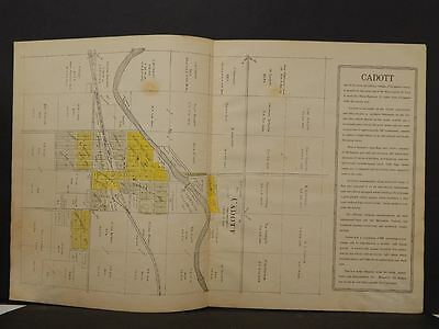 Wisconsin Chippewa County Map Cadott 1913  Double Page Y11#12