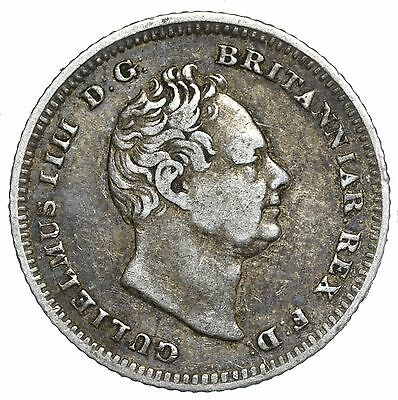 1837 Groat (Fourpence) - William Iv British Silver Coin - Nice