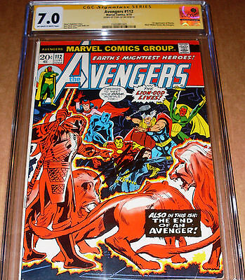 Avengers #112 CGC SS SIGNED Stan Lee Marvel 1973 1st appearance Mantis GotG 2
