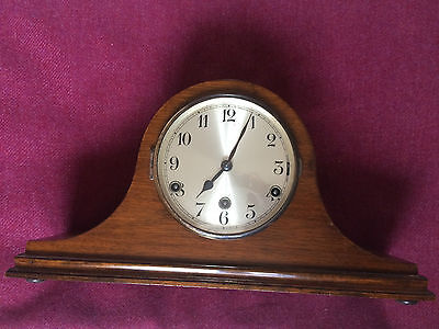 Early Wooden Cased Westminster Chiming Mantel Clock