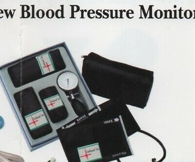 DELUXE PRO BLOOD PRESSURE MONITORING SET STETHOSCOPE SPHYGMOMANOMETER KIT light