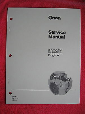 Onan N52M Engine Service Manual