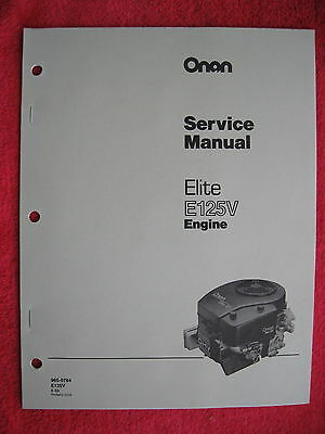 Onan Elite E125V Engine Service Manual
