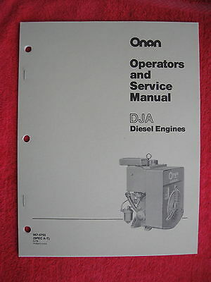 Onan Dja Diesel Engine Operators & Service Manual