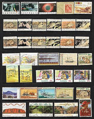 1992/1993 Page Of Australian Stamps  Used
