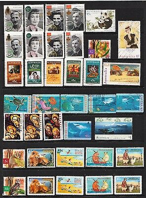 1995/1996 Page Of Australian Stamps  Used