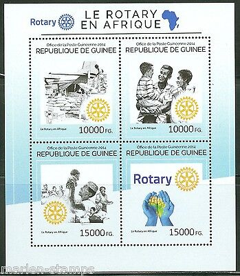 Guinea 2014 Rotary Int'l In Africa  Sheet Mint Nh