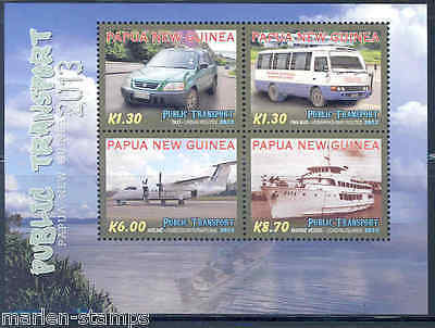 Papua New Guinea 2012 Public Transport  Sheet  Mint Nh