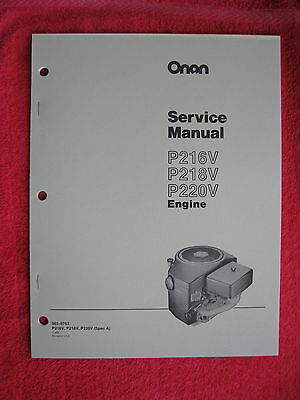 Onan P216V, P218V, & P220V Engine Service Manual