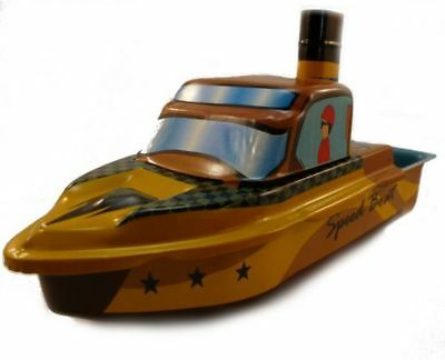 Candle Boat, Pop Pop Boat, Speedboot, Welby, Plate,. Tin Toys