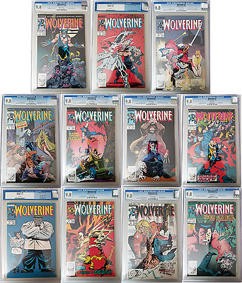 Wolverine #1, 2, 3, 4, 5, 6, 7, 8, 9, 10 and 11!!! All CGC'ed 9.8!! White Pages