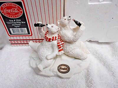 Coca-Cola, Heritage Collection 1996 Polar Bear and Friend figurine NEW IN BOX