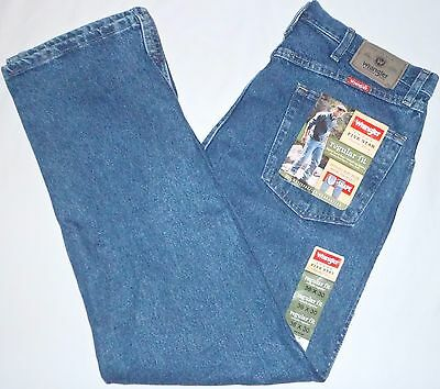 New 36x30 Wrangler Regular Fit Blue Jeans 96501DS 100% Cotton Denim NWT