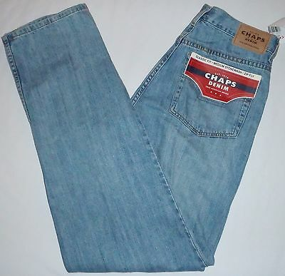 New 32x34 Chaps Denim Classic Fit Zip Fly Blue Jeans 100% Cotton D91600 NWT