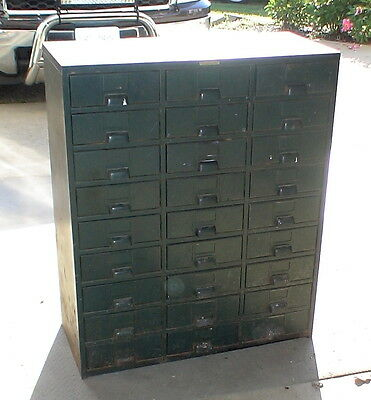 "Vintage Hobart Steel Metal 27 Drawer Cabinet 40""s"