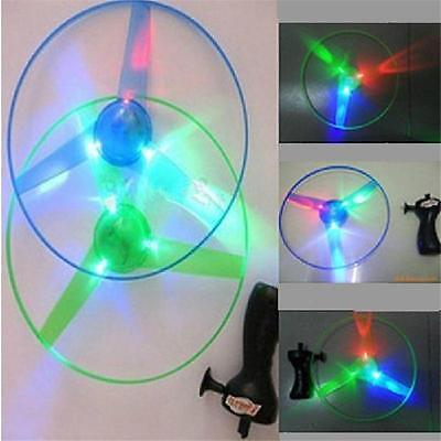New Children Outdoor Toy Flash Light UFO Flying Saucer Frisbee Top Toys YDI