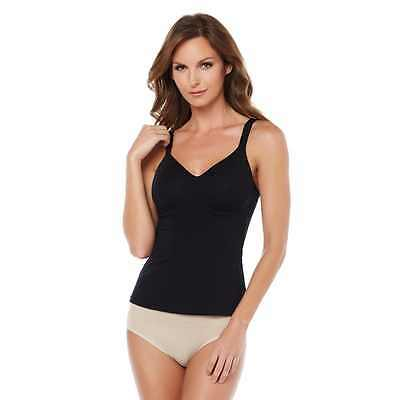 Rhonda Shear Camisole L Cotton Blend Molded Cup Black New