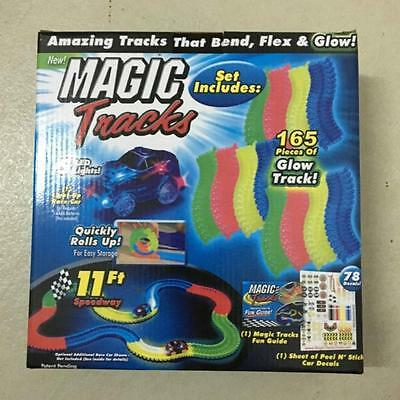 Magic Tracks car The Amazing Racetrack that Can Bend Flex Glow 11FT FREE SHPPING