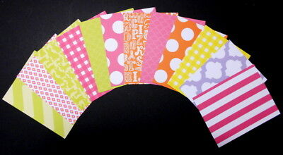 COLOURFUL DOUBLE-SIDED CARD x 12 Scrapbooking/cardmaking/crafts - 14cm x 11m