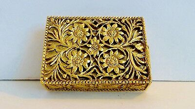 Max Factor Solid Perfume Golden Matchbox Compact Pull out Drawer Full Hypnotique