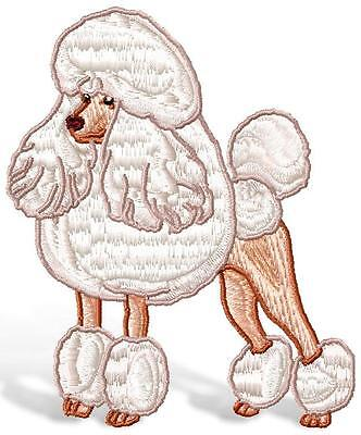 Realistic Poodle 8  Machine Embroidery Designs Cd 2 Sizes