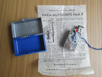 Vintage Autoknips II DRP German Auto Timer Clockwork Cable Release Photo Camera