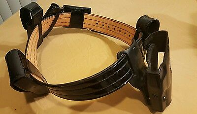 Don Hume B120 Size 38  Police Duty Belt With Holster And Accessories