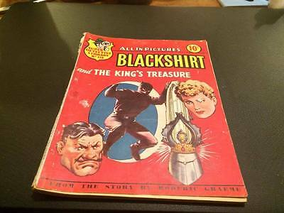 "SUPER DETECTIVE LIBRARY Picture Comic #119. ""BLACKSHIRT"" AND THE KING'S TREASURE"